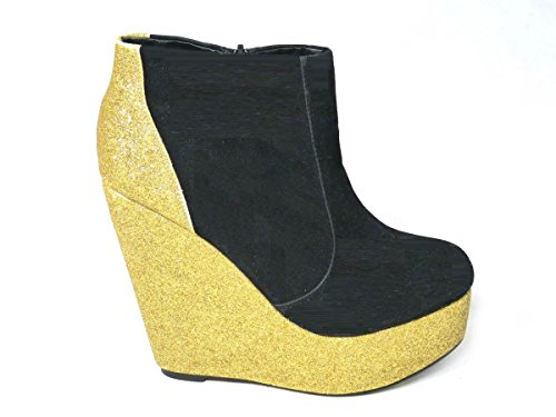 Mid High Slouch Boot (SKO'S Mädchen Damen Chelsea Boots, Mehrfarbig - Gold (1033) - Größe: 39)