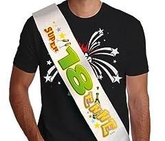 Idea Regalo - La FASCIA della super 18 ENNE - fascia idea scherzo gadget per la festa di compleanno dei 18 ANNI e del neo Maggiorenne