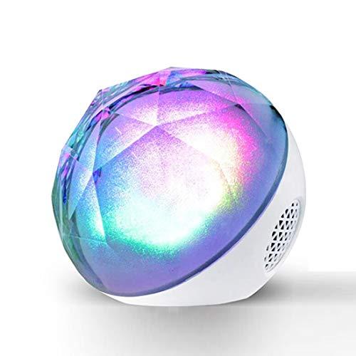 Leilei Bluetooth-Lautsprecher Farbwechsel LED Nachtlampe Stimmungslicht & Beruhigender Schlaf Sound Maschine mit Fernbedienung Baby Kindergarten Kinder Nachtlicht,White