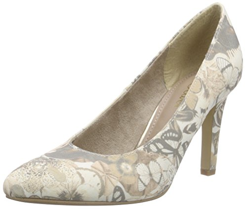 s.Oliver Damen 22427 Pumps Beige (BEIGE FLOWER 407)