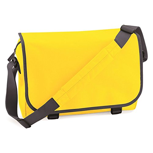 BagBase Borsa a Tracolla in 12 Splendidi Colori Yellow/Graphite Grey