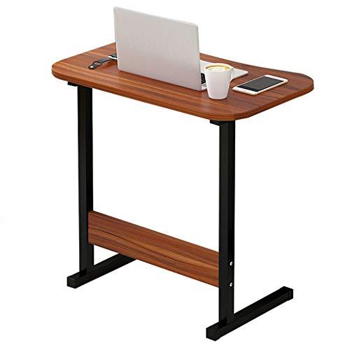 Gy capezzale tavolo porta computer portatile, postazione di lavoro mobile in piedi, pannello di legno, multifunzione domestico portatile tavolino vassoio, 4 colori, 60 * 40cm (colore : brown)