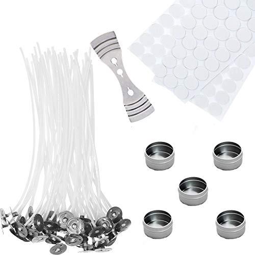 Kit para hacer velas con 100 mechas enceradas