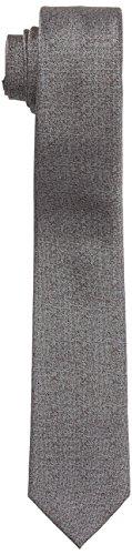 ESPRIT Collection Herren Krawatte 117EO2Q005, Grau (Silver 090), One Size (Herstellergröße: 1SIZE)