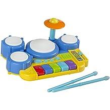 WinFun - Batería electrónica infantil, 30 x 23 x 12 cm (Colorbaby 2034-NL )