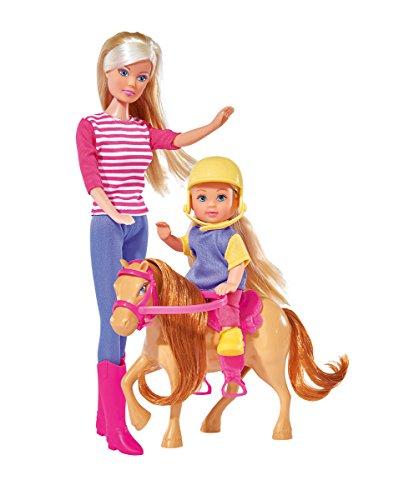Simba 105738051 - Steffi Love Puppe als Reitlehrerin mit Evi und Pony