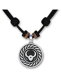 12 verschiedene Sternzeichen Tierkreiszeichen an verstellbarer Lederkette Horoskop Horoscope Halskette Surferkette HANA LIMA ®