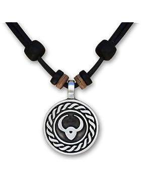 12 verschiedene Sternzeichen Tierkreiszeichen an verstellbarer Lederkette Horoskop Horoscope Halskette Surferkette...