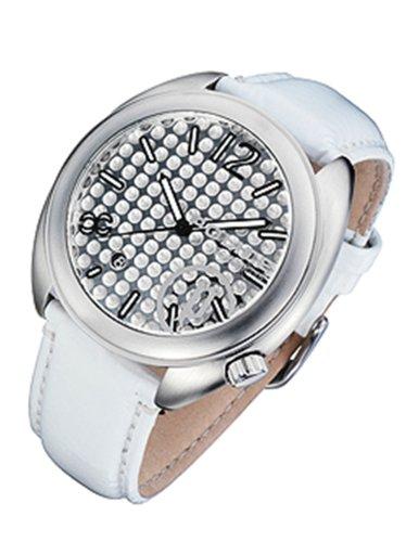 Police PX11402D - Reloj analógico de cuarzo para mujer con correa de piel, color blanco