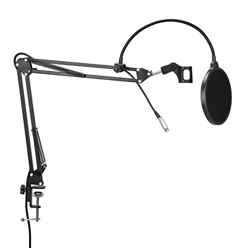desktop-studio-recording-mic-microphone-stand-suspension-boom-scissor-arm-holder-adjustable-with-cla