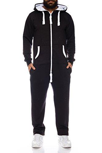 erall Jumpsuite Onesie Jogger Trainingsanzug [H-120 - Black - XL] (Onsie Herren)