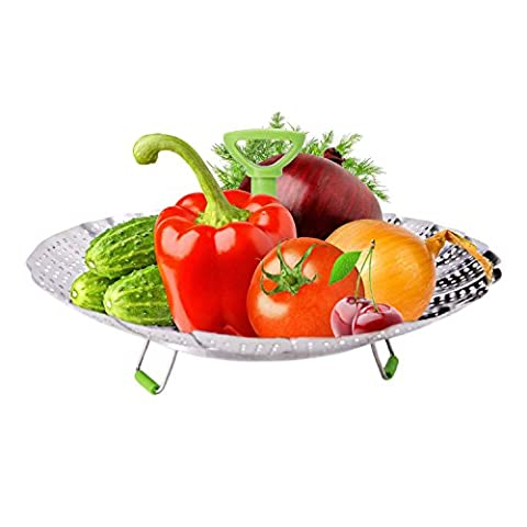 INMAKER Stainless Steel Vegetable Steamer Basket with Extendable Handle