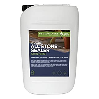 StoneCare 4u - Essential All Stone Sealer 'Satin' Finish - Eco Friendly, Highly Effective 'Wet Look' Sealer for All Types of Natural Stone. Quick & Easy to Apply on Tiles, Floor & Paving (25 Litre)