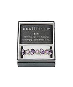 Textured Disk PURPLE MOONSTONE Elasticated Bracelet - EQUILIBRIUM RANGE by Equilibrium Technologies
