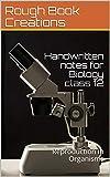 Handwritten notes for Biology class 12: Reproduction in Organisms (CHBIO Book 1005)
