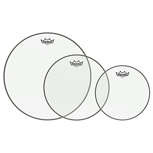 "Remo PP-1380-BA Ambassador Clear Tom Drumhead Pack - 10"", 12\"" & 16\"""