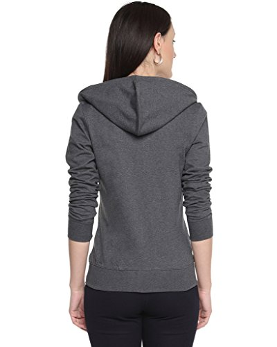 Campus-Sutra-Charcoal-Womens-cotton-Zipper-Hoodie