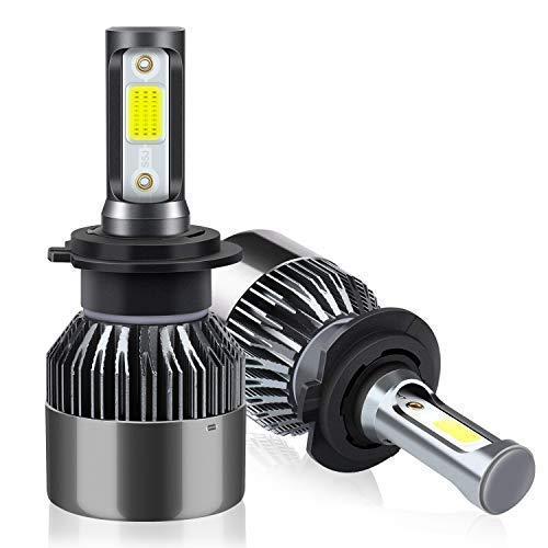 Lampadine H7 LED 8000LM, Fari Abbaglianti o Anabbaglianti per Auto, Kit Lampada Sostituzione per Alogena Lampade e Xenon Luci, 12V-24V, 6000K Bianco