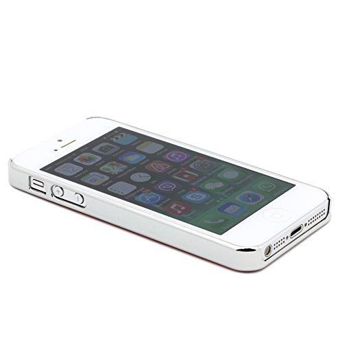 Original UrCover® Steppmuster Backcase für das Apple iPhone SE / 5 / 5s [deutscher FACHHANDEL] Case Schutz Hülle Cover Etui Tasche Pink Weiß