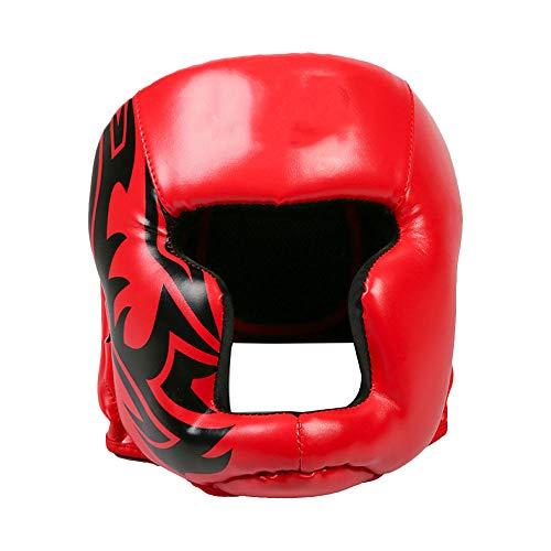 Casco de entrenamiento de boxeo, protección para la cabeza de cuero, protección para las mejillas...