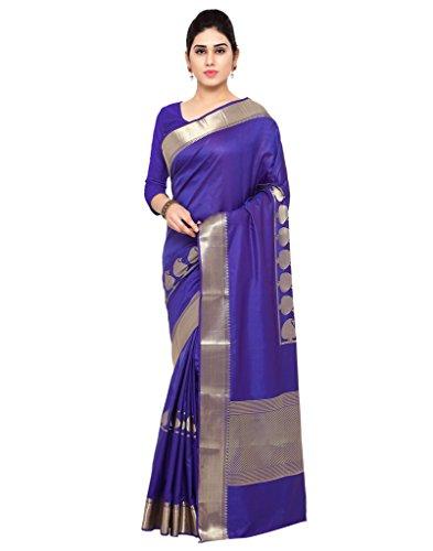 Varkala Silk Sarees Women's Art Silk Paithani Saree With Blouse Piece(JB5007RBV_Blue_Free Size)