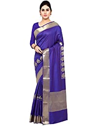 Varkala Silk Sarees Women's Art Silk Paithani Saree With Blouse Piece(JB5007RBV_Blue_Free Size)