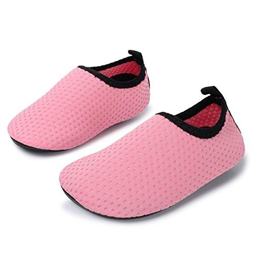 JIASUQI Classic Outdoor und Indoor Sport Wasser Schuhe Casual Beach Sandalen für Baby, Dot Pink 6-12 Monate (Herstellergröße : 17/18)
