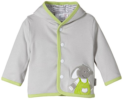 Sterntaler Baby - Jungen Jacke Kapuzen- Jersey Elias, Gr. 50, Grau (Silber 513) - Jersey Kapuzen Jacke