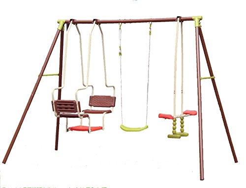 URBN-Toys Spielgerät für den Außenbereich, Schaukelgerüst mit verschiedenen Schaukelarten, toll für Kinderspielplätze, mit Schiffschaukel, Wippschaukel und normaler Schaukel