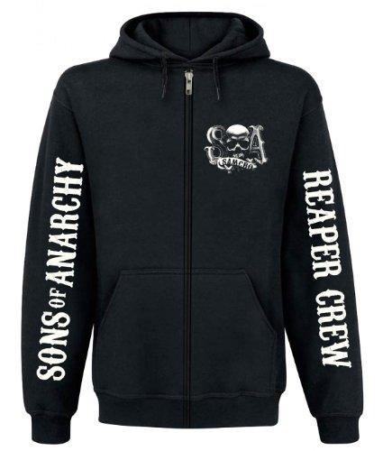 Sons of Anarchy Zipper Men - REAPER CREW - Black, Größe:S