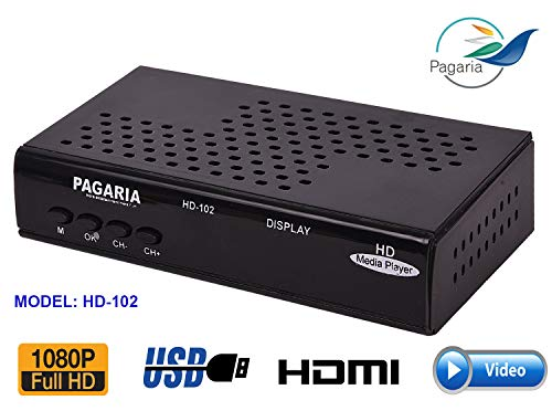 PAGARIA 1080p Full-HD Ultra Portable Digital Media Player
