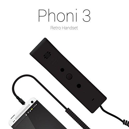 Portronics Phoni 3 POR-911 Retro Handset - Grey