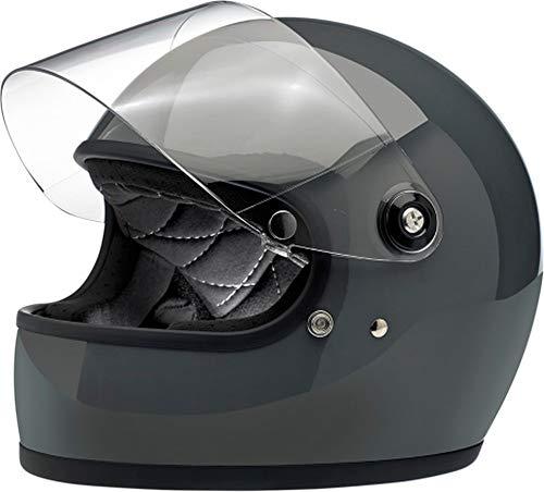 Casco Integrale Biltwell Gringo S Nero Lucido Glitterato Midnight Black Miniflake Helmet Vintage Retr/ò Anni 70 Custom Chopper Bobber Taglia XL
