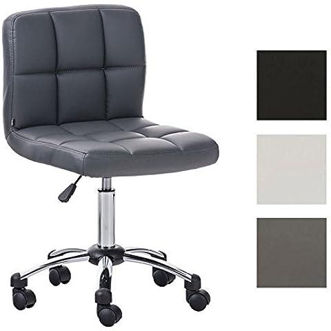 CLP Taburete de trabajo MEDICA con respaldo, ajustable en altura, acolchado grueso, confortable & ruedas suaves gris