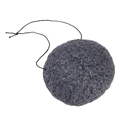 Naturel Konjac Eponge de Visage Nettoyage de Visage - Noir