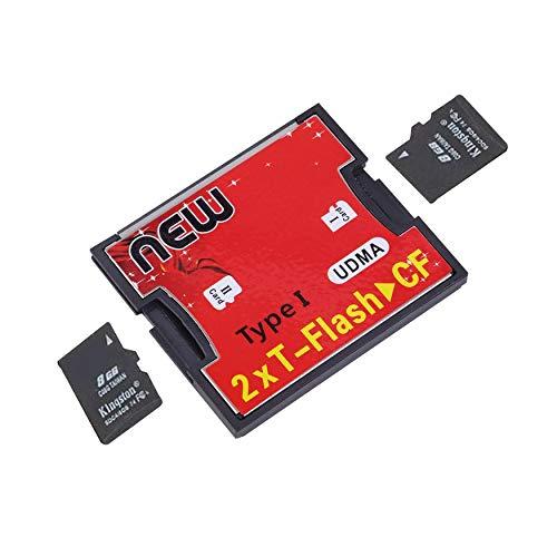 Yaoaoden Multicolor Plastic & Metal 42x 35x 3mm 2x64G (max) 2 Anschlüsse TF Für SDHC bis Typ I 1 CF-Lesegerät für Compact Flash-Karten