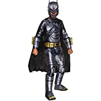 Batman v Superman Costume, Kids Deluxe Batman Armored Outfit, Medium, Age 5 - 7, HEIGHT 4