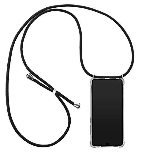 tradespeople Handykette geeignet für Huawei Mate 20 | Smartphone Necklace Hülle mit Band | Schnur Kordel mit Case zum Umhängen | schwarz