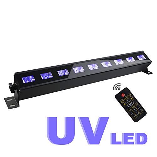 y Lichter 4 Remote UV-Licht Halloween Spukhaus Dekoration Lichter 9 LED UV-Leuchtstofflampen DJ Bühnenlicht für Car Home Room Parties ()