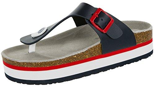 Beppi Hausschuhe für Damen | Slipper für Frauen | Indoor-Sandalen mit Sohle Aus Leder | Gestreift | Größe 36