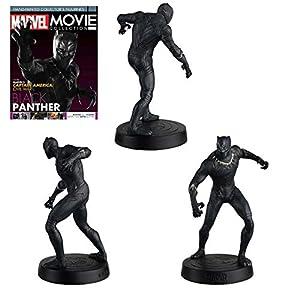 Eaglemoss- Marvel Movie Collection Los Vengadores Estatua Black Panther, Multicolor (EAMOMMFRWS002)