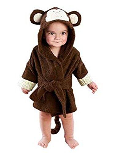 mainaisi bebé toallas de albornoz con capucha de algodón Cartoon Ani
