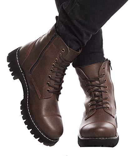 LEIF NELSON Herren Schuhe Klassische Stiefel Freizeitschuhe Boots Elegante Winterschuhe Männer Sneakers LN156; 42, Braun