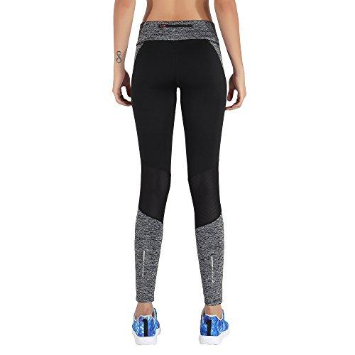 MOTORUN Pantalon Sport Femme Leggings Yoga Noir Pour Fitness Noir-Blanc