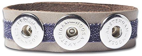 NOOSA ORIGINAL Armband INDIGO CLASSIC DENIM grey Größe M