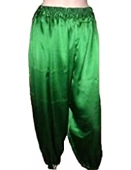 Danza del Vientre pantalones harén para danza Tribal disfraz de bailarina Yoga nueva M L XL XXL, verde oscuro