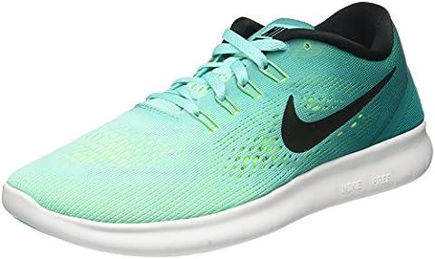 Nike Herren Free RN Laufschuhe, Blu (Hyper Turq/Black/Rio Teal/Volt/White), 40 EU