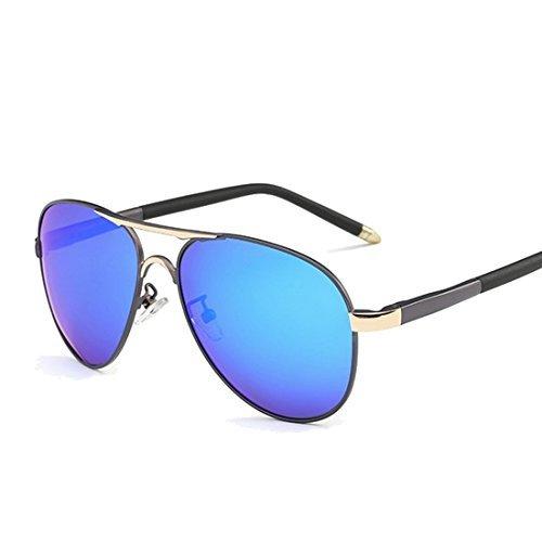 Ko & Will Fishing Eyewear Polarized Men Sunglasses Alloy Frame P8503 Gun Gold Blue