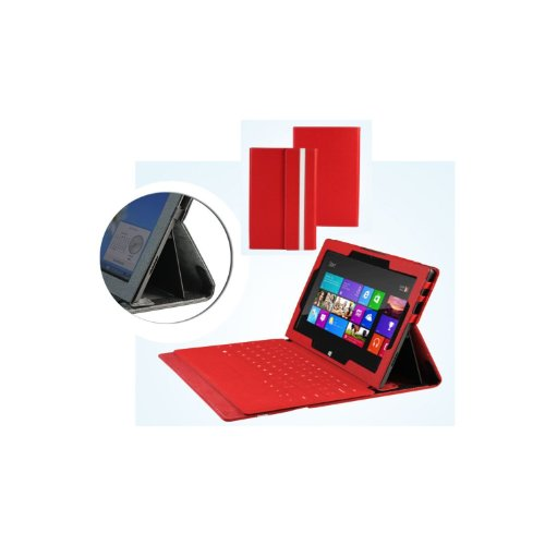 MiTAB rotes bycast Leder Case / Cover für das Microsoft Surface RT 10.6 Zoll Tablet