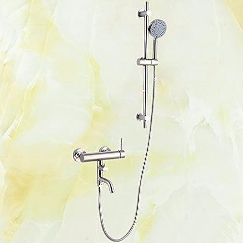sdkky Badezimmer Dusche, Edelstahl Hand Zeichnen Pinsel Set